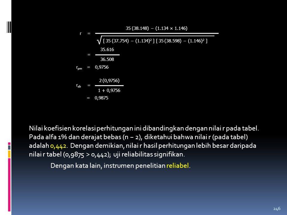 35.616 36.508. = = 0,9756. rpm. r = 35 (38.148) − (1.134 × 1.146) √ [ 35 (37.754) − (1.134)2 ] [ 35 (38.598) − (1.146)2 ]